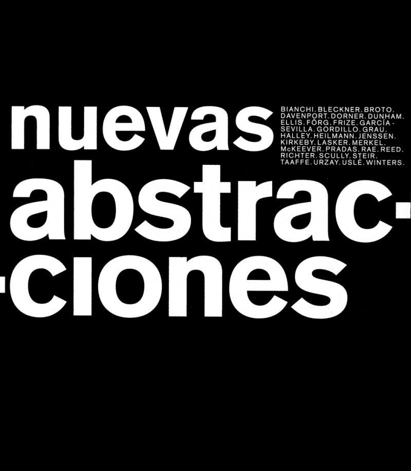NUEVAS ABSTRACCIONES /  MACBA Barcellona and Reina Sofia Madrid / 1996